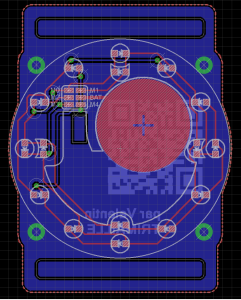 Bottom PCB in Eagle CAD