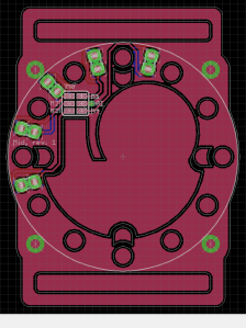 Middle PCB in Eagle CAD